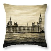Artistic Vision Of Elizabeth Tower Big Ben And Westminster Throw Pillow