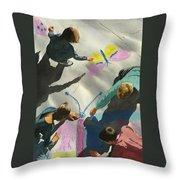 Artists At Work Throw Pillow