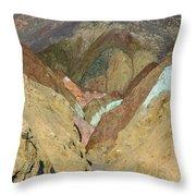 Artist's Brushstrokes Throw Pillow