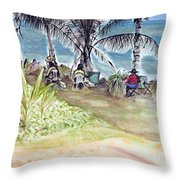 Artists By The Sea Throw Pillow