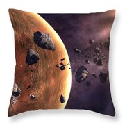 Artists Concept Of A Supernova Throw Pillow by Frieso Hoevelkamp