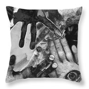 Artist's Hands Throw Pillow