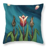 Artists In Bloom Throw Pillow by Brandy Woods