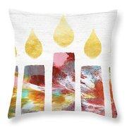 Artists Menorah- Art By Linda Woods Throw Pillow