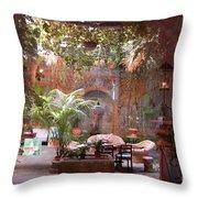Artists' Studio In Sorrento Italy  Throw Pillow