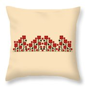 Arts And Crafts Rose Garden Throw Pillow