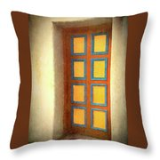 Arts Center Door Throw Pillow