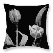 Artsy Tulips Throw Pillow