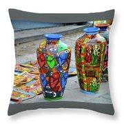 Artwork Large Vase Throw Pillow