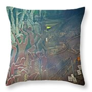 Artwork Representing The Disappeared Located Under A Bridge In Buenos Aires-argentina  Throw Pillow