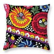 Hungarian Matyo Szentgyorgy Folk Embroidery Photographic Print Throw Pillow