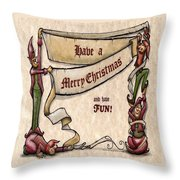 Merry Christmas Elves Throw Pillow