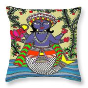 Matsya An Avatar Of Hundi God Vishnu  Throw Pillow