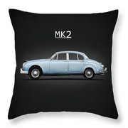 Jaguar Mk2 Throw Pillow