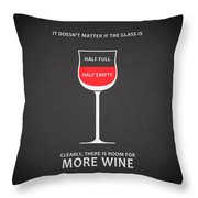 Wine Glasses 1 Throw Pillow