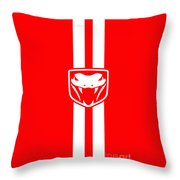 Dodge Viper Red Phone Case Throw Pillow
