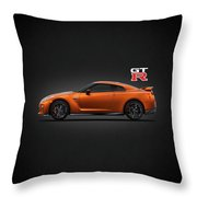 The Gt-r Throw Pillow by Mark Rogan