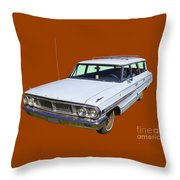 1964 Ford Galaxy Country Sedan Stationwagon Throw Pillow