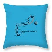 Circuit Of Monaco Throw Pillow