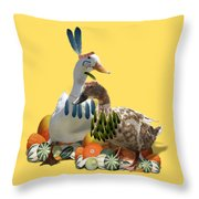 Thanksgiving Indian Ducks Throw Pillow