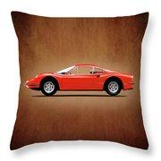 Ferrari Dino 246 Gt Throw Pillow
