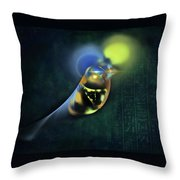 Horus Egyptian God Of The Sky Throw Pillow by Menega Sabidussi