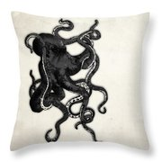Octopus Throw Pillow by Nicklas Gustafsson