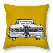 1959 Edsel Ford Ranger Illustration Throw Pillow