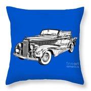1938 Cadillac Lasalle Illustration Throw Pillow