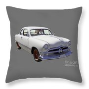 1950 Ford Custom Antique Car Throw Pillow