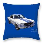 1965 Gt350 Mustang Muscle Car Throw Pillow