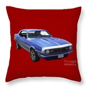 1968 Chevrolet Camaro 327 Muscle Car Throw Pillow