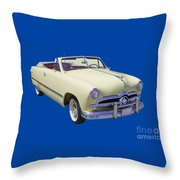 1949 Ford Custom Deluxe Convertible Throw Pillow