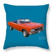 1966 Chevrolet Chevelle Convertible 283  Throw Pillow