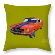 1966 Ford Mustang Fastback Throw Pillow