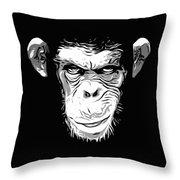 Evil Monkey Throw Pillow