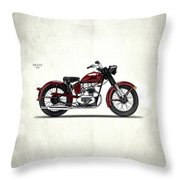 Indian Brave 1951 Throw Pillow