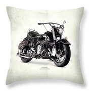 Indian Chief Roadmaster 1953 Throw Pillow