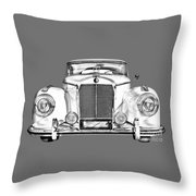 Mercedes Benz 300 Luxury Car Illustration Throw Pillow