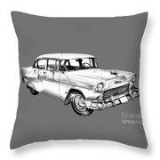 1955 Chevrolet Bel Air Illustration Throw Pillow