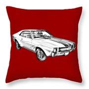 1969 Amc Javlin Car Illustration Throw Pillow