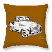 1947 Chevrolet Thriftmaster Pickup Illustration Throw Pillow