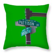 Broad And Pattison Where Philly Sports Happen Throw Pillow