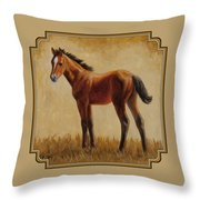 Afternoon Glow Throw Pillow by Crista Forest
