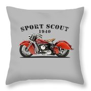 Indian Sport Scout 1940 Throw Pillow