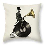 Music Man Throw Pillow by Eric Fan