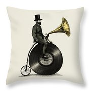 Music Man Throw Pillow by Eric Fan