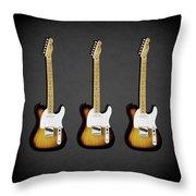 Fender Telecaster 58 Throw Pillow by Mark Rogan