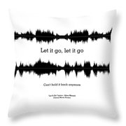 Let It Go - Music And Motivational  Typography Art Poster Throw Pillow