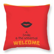 Max Eastman Smile Quotes Poster Throw Pillow by Lab No 4 - The Quotography Department